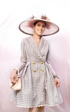 Melbourne Cup 2012 Fashions on the Field ... Sarah Dowling in David Medwin. #hats #racing