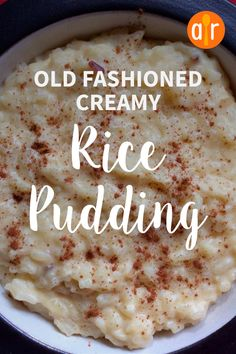 "Old Fashioned Creamy Rice Pudding ""Cooked rice is combined with milk, sugar, and an egg and flavored with butter and vanilla in this quick stovetop rice pudding."" - Old Fashioned Creamy Rice Pudding Creamiest Rice Pudding Recipe, Rice Pudding Recipes, Pudding Desserts, Keto Pudding, Rice Puddings, Best Rice Pudding Recipe With Cooked Rice, Long Grain Rice Pudding Recipe, Sugar Free Rice Pudding Recipe, Arroz Con Leche"