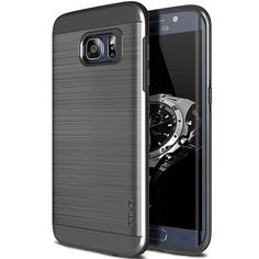 81a0d047d7a Protect your Samsung Galaxy Edge with this ultra slim case in titanium  space grey which protects as well as providing a stunning full body  protection in an ...