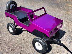 "XploRoller with smaller 10"" tires. Illusion purple powder coat jeep radio flyer"