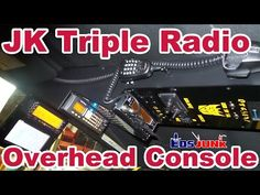 Jeep JK Custom Triple Radio Overhead Console Mod - YouTube