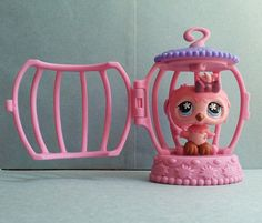 Littlest Pet Shop LPS Pink Owl