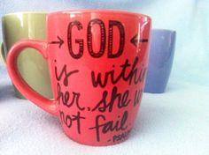 Adorable 12 oz Coffee Mug for any Woman Mom by SeedsOfFaithMom, $12.00