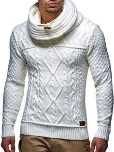 Ericdress Plain Color Heap Collar Casual Mens Sweater We Offer Top Good Quality Cheap Clothes For Women And Men Clothing Wholesaler, Get Affordable Clothing At Worldwide. Mens Fashion Sweaters, Sweater Fashion, Pullover Mode, Pullover Sweaters, Sweater Shop, Men Sweater, Mens Turtleneck, La Mode Masculine, Herren Outfit