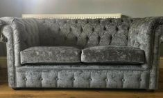 Chesterfield Grey Fabric 2 Seater & 3 Seater Sofas · $400.00 Fabric Chesterfield Sofa, Sofa Deals, 3 Seater Sofa, Grey Fabric, Sofa Set, Love Seat, Couch, Furniture, Home Decor
