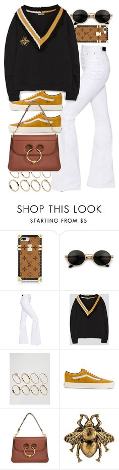 """Untitled #11367"" by nikka-phillips ❤ liked on Polyvore featuring Sonia Rykiel, ASOS, Vans, J.W. Anderson and Gucci"