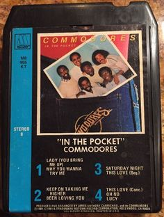 Commodores!  In The Pocket  8 Track Tape 1981 #Motown #Vintage8track