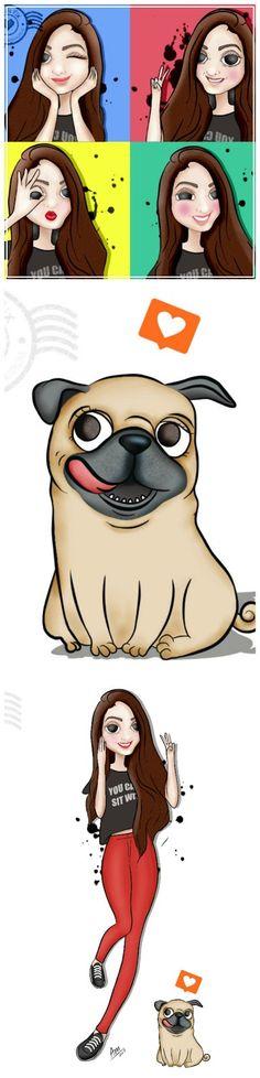 Ilustração personalizada Brendha Crizel : Querido Pix Ilustrações Personalizadas