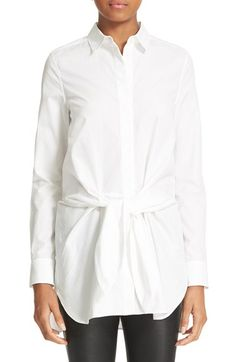 Free shipping and returns on 3.1 Phillip Lim Poplin Tie Waist Blouse at Nordstrom.com. Swathes of crisp cotton poplin are knotted at the front of a SoCal-inspired take on the classic white button-down.