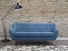 Sofa niebieska - kanapa - sofa tapicerowana - MOTALA