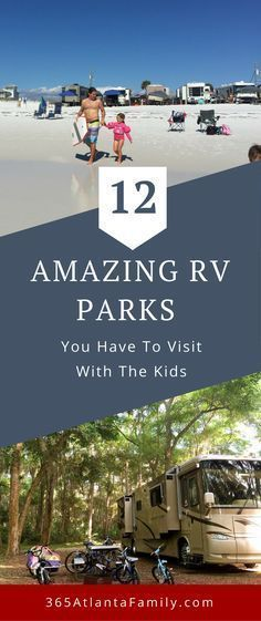 RV parks you don't want to miss! Traveling full time in our RV for the last 3 years has brought us to many amazing RV parks. Check out our 12 favorite from around the US. #RV #BestRVParks #RVTravel #FamilyTravel