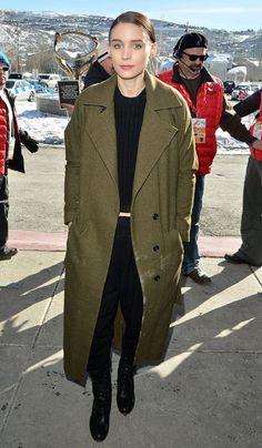 Rooney Mara at Sundance Film Festival - January 2013. I heart her style.