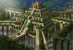 I giardini pensili di Babilonia, le sette meraviglie del mondo