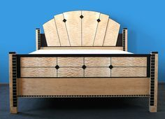 Keystone Art Deco Bed This custom Art Deco Bed is made of Quilted Maple, Birdseye Maple, and Wenge