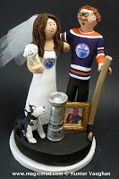 Video of Hockey Fans Wedding Cake Toppers  The Stanley Cup for True Love has been won!!... and all of the players are featured in this video montage of made to order wedding cake toppers created for hockey fans!...$235#hockey#stanley_cup##wedding #cake #toppers  #custom #personalized #Groom #bride #anniversary #birthday#wedding_cake_toppers#cake_toppers#figurine#gift