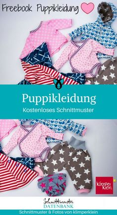 Puppikleidung Puppenkleidung Klimperklein kostenlose Schnittmuster Gratis-Nähanleitung The Effective Pictures We Offer You About Clothes teenager A quality picture can tell you many things. Sewing Patterns Free, Free Sewing, Clothing Patterns, Free Pattern, Dress Patterns, Puppy Clothes, Diy Clothes, Clothes Storage, Diy Sans Couture