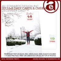 December Daily™ 2013 6x8 Journal Cards And Overlays
