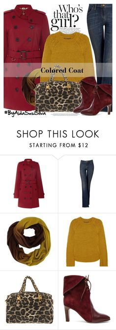 """""""Colored Coat"""" by aidasusisilva ❤ liked on Polyvore featuring Burberry, Simply Vera, Theyskens' Theory, LIU•JO and Chloé"""