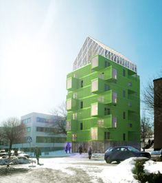 KTH's proposed Container House to reduce student demand for affordable accommodation.