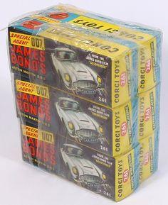 Corgi Toys 267 - Factory Sealed Six Pack James Bond 1970s Toys, Corgi Toys, Vintage Boys, Metal Toys, Toy Collector, Childhood Toys, Old Toys, Toys For Boys, Retro