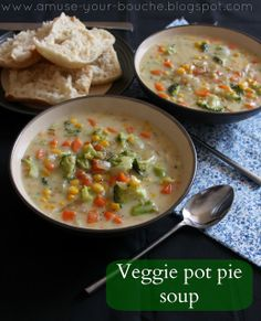 Veggie Pot Pie Soup by Amuse Your Bouche, updated website.