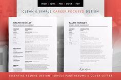 Elegant ResumeCv V Elegant Cv Design  Cover Letter Design