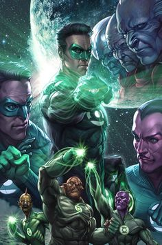 The universe's protectors unite in order to prevent Parallax from disrupting the balance of power. Green Lantern Licensing Art 2/3, by Stanley Lau.