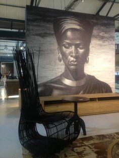 Wylandts Cape Town - Black and White Zulu Woman. Brick Wallpaper, Paper Wallpaper, Versace Wallpaper, Fine Art Prints, Canvas Prints, Stunning Wallpapers, Surface Design, Wall Murals, Feature Walls