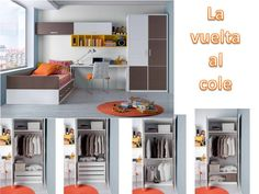 Dormitorio juvenil. Youth Bedroom  #furniture  #muebles  #Málaga  http://www.decorhaus.es/es/