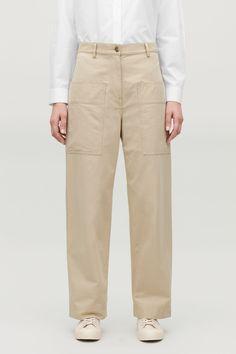COS | Cotton Chinos, Khaki Pants, Trousers, Pants, Khaki Shorts, Khaki Pants Outfit, Trouser Pants