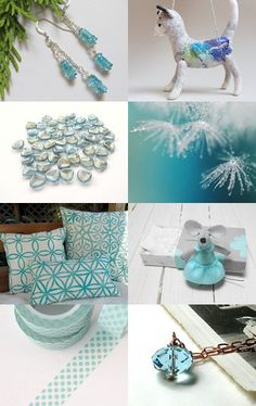 Shimmering Blues  by Robin on Etsy--Pinned with TreasuryPin.com