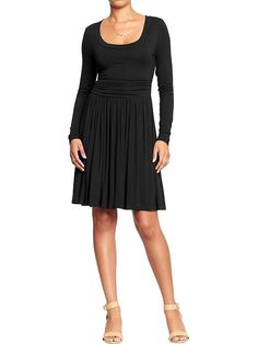 Women's Side-Shirred Fit & Flare Dresses Product Image