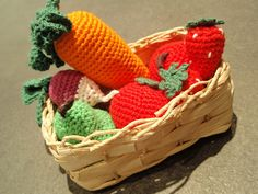 Crochet food to play with