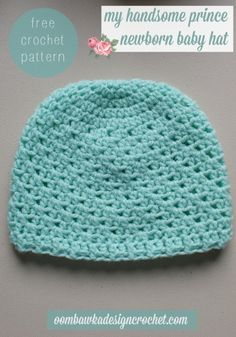 my handsome prince newborn hat free pattern