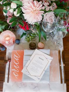 Himalayan Sea Salt Played a MAJOR Role in this Wedding…and It's Stunning – Style Me Pretty Dc Weddings, Unique Weddings, Black Weddings, Pink Himalayan Sea Salt, Copper And Pink, Table Top Design, Wedding Decorations, Table Decorations, Reception Table