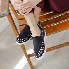 Korea womens shopping mall [styleberry] Frown Point Slip-on Shoes   / Size : 230-250 / Price : 38.83 USD #korea #fashion #style #fashionshop #styleberry #lovely #shoes #slip #slip_on #dailyshoes #fashionitem