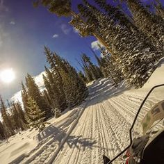 Snowmobiling up Togwotee Pass o the Continental Divide in #Wyoming. #snowmobiling