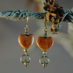 Cinnamon Hearts using Clay River Beads @ antelopebeads.com