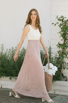 Shop the Irina Dotted Swiss Maxi Skirt - boutique clothing featuring fresh, feminine and affordable styles. Wedding Guest Style, Pink Tone, Affordable Fashion, Boutique Clothing, Dress Skirt, Feminine, Valentines, Fresh, Formal Dresses
