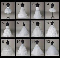 Women Bridal Wedding Prom Tulle Skirt Crinoline Petticoat Underskirt Slip Skirts