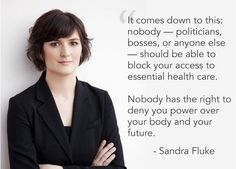 It comes down to this. Vote for Sandra Fluke for California State Senate on June 3rd. www.standwithsandra.org