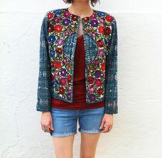 Antigua Jacket- Floral--30% OFF