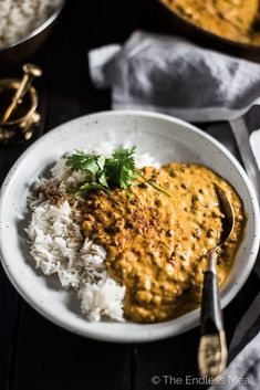 Coconut Black Lentil Curry is a creamy and crazy delicious vegan curry recipe. Using coconut milk instead of heavy cream keeps this buttery dal makhani dairy free without losing any of the richness you crave. Lentil Recipes, Curry Recipes, Veggie Recipes, Indian Food Recipes, Vegetarian Recipes, Dinner Recipes, Cooking Recipes, Healthy Recipes, African Recipes
