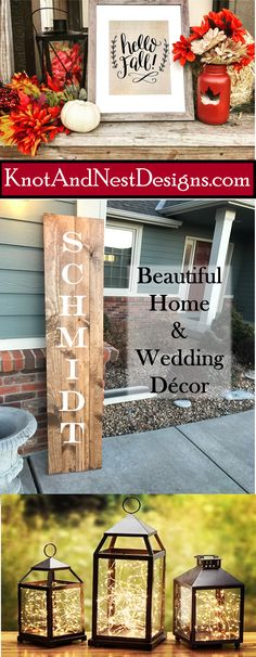 Knot and Nest Designs - Wedding Decorations and Home Decor Fall Crafts, Diy And Crafts, Rustic Decor, Farmhouse Decor, Ideas Baños, Porch Decorating, Decorating Ideas, My New Room, Wedding Decorations