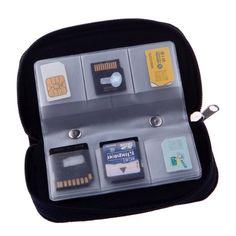 Yinglite 22 Schlitze memory card holder case Speicherkarte Fall Speicherkartenhalter. sd box Tasche (Rot):Amazon.de:Elektronik