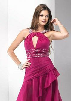 Sleeveless A line Halter With Ruffles High Low Taffeta Prom Gown - Angeldress.co.uk