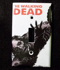 The Walking Dead Zombie Comic Light Switch Cover - Switchplate - Switch Plate. $6.00, via Etsy.