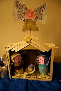 Homemade Nativity from Pink and Green Mama