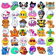 Moshi Monsters Moshlings List Pictures | Moshi Games