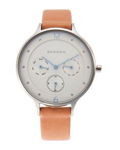 Skagen SKW2449 Silver-Tone Watch Skagen, Watches, Silver, Leather, Accessories, Money, Clocks, Clock, Ornament